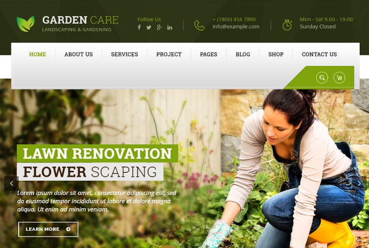 Top 5 Garden, Landscape, Lawn, Agriculture WordPress Themes